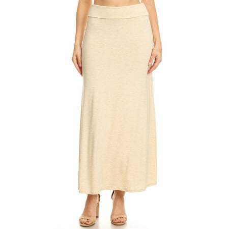Women's Trendy Style Solid Maxi Skirt