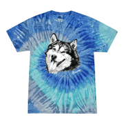 Cute Husky Dog Lover Pet Owner Animal Lover Tie-Dye T-Shirt