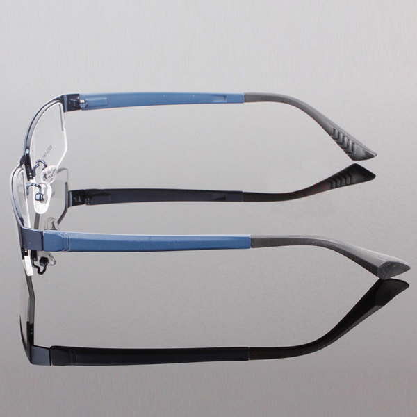 MUXUAN Clear Lens Eye Glasses Frame Mens Durable Eyewear Metal Frame Eyeglasses