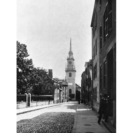 Church Boston Halloween Party (Old North Church in Boston Print Wall)