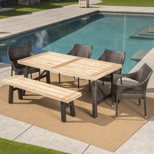 Brayden Studio Arabella Outdoor 6 Piece Dining Set