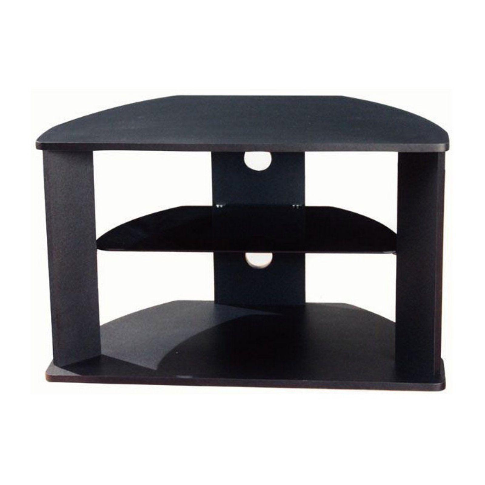 4D CONCEPTS CORNER TV CART, BLACK