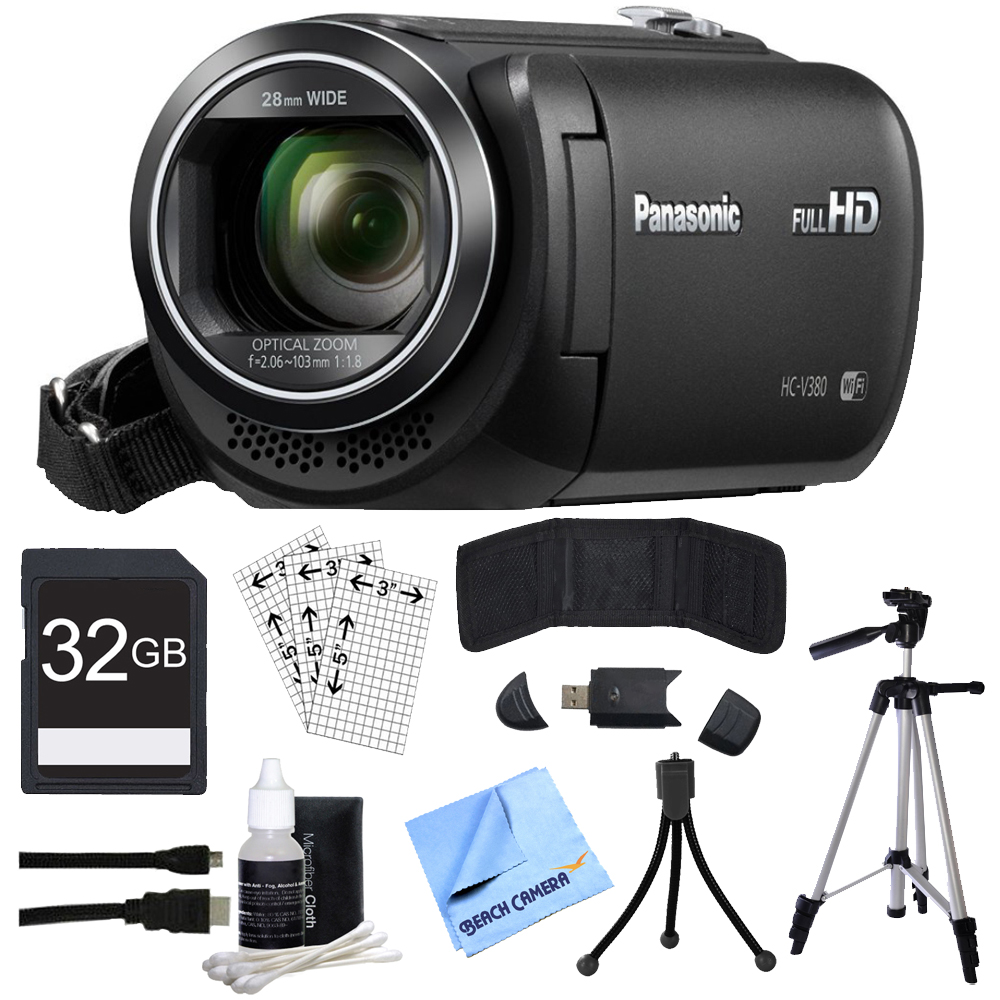Panasonic HC-V380K Full HD Camcorder with Wi-Fi Multi Scene Twin Camera - Black