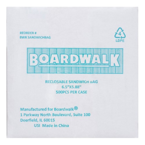 Boardwalk Reclosable Sandwich Bags, 500 Ct