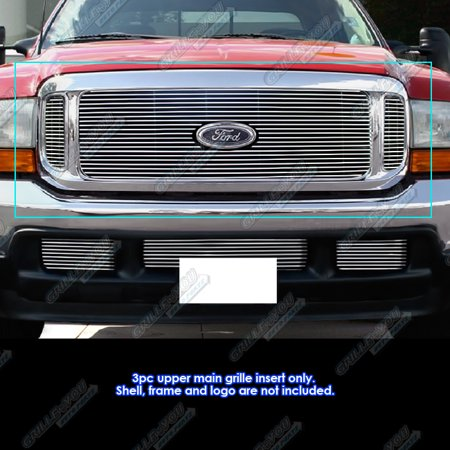 Fits 99-04 Ford F250/F350/Super Duty/Excursion Billet Grille