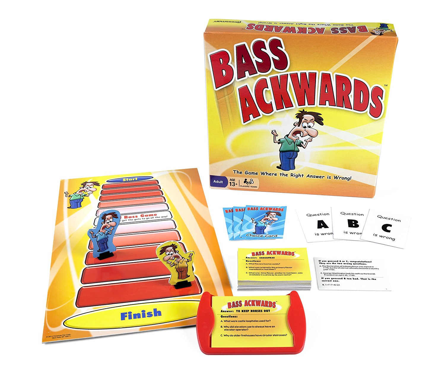 Pressman Toys Bass Ackwards Board Game by Supplier Generic