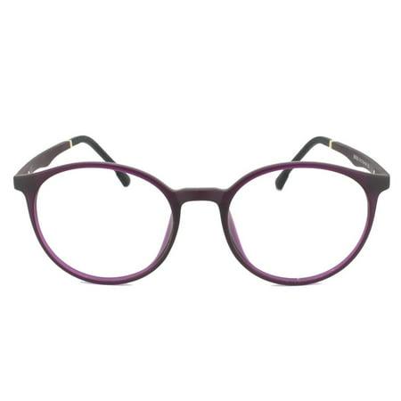Buy Oakley Prescription (Eye Buy Express Prescription Glasses Mens Womens Violet Black Gold Rounded Retro Reading Glasses Anti Glare grade )