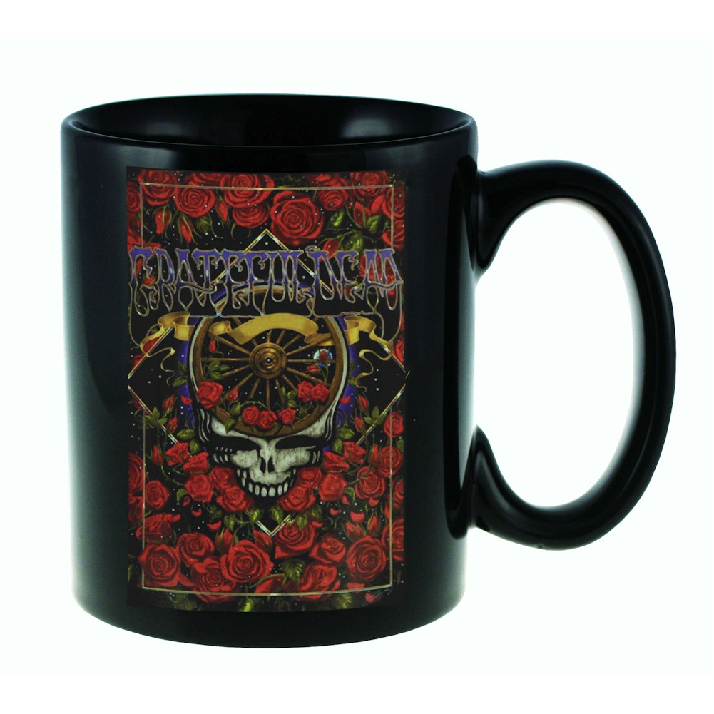 Grateful Dead Steal Your Face And Roses 11 Oz. Ceramic Coffee Mug