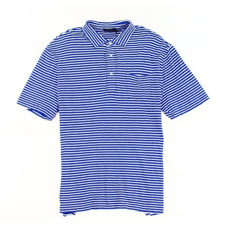 Polo Ralph Lauren New Blue Mens Size 2Xl Striped Pocket Polo Shirt