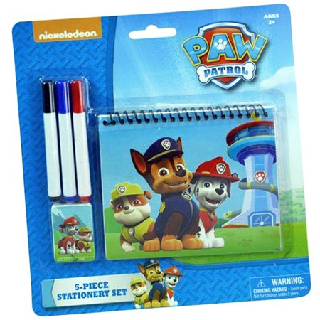 nickelodeon paw patrol personalized stationery set kids coloring