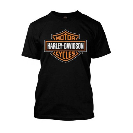 1965769c Harley-davidson - Men's Orange Bar & Shield Black T-Shirt 30290591, Harley  Davidson - Walmart.com