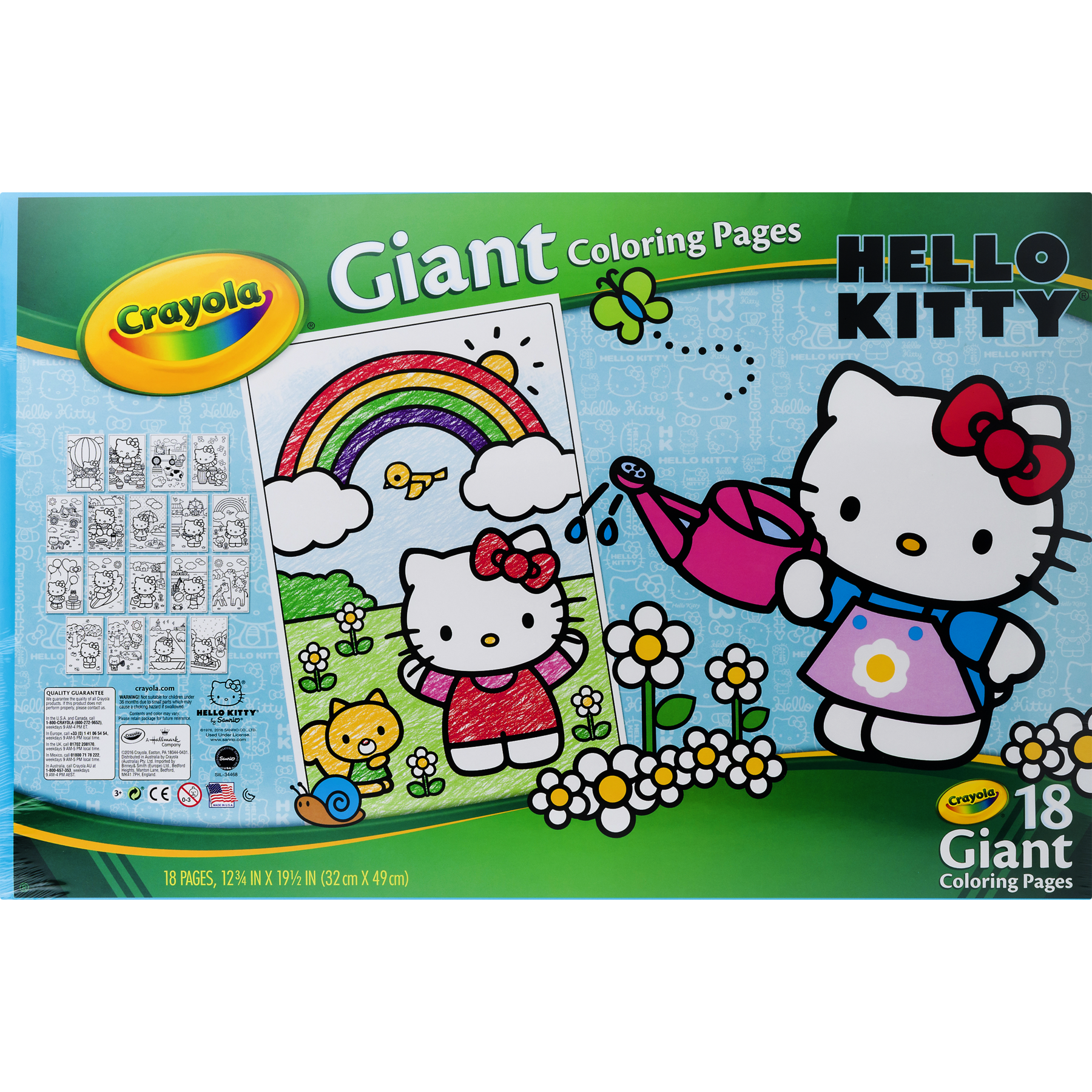 Crayola Giant Coloring Pages, Hello Kitty, 18-Count - Walmart.com
