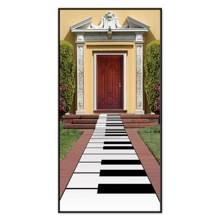 Pack of 6 Music Themed Piano Keyboard Path Runner Party Decorations 10'