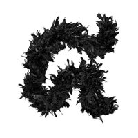 """Deluxe Large Black 72"""" Costume Accessory Feather Boa"""
