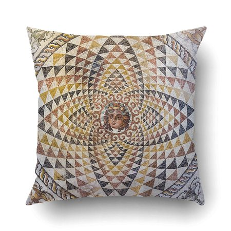 BPBOP Mosaic In Ancient Corinth Museum Greece Cushion Covers Pillowcases 18x18 inches Ancient Greece Museum