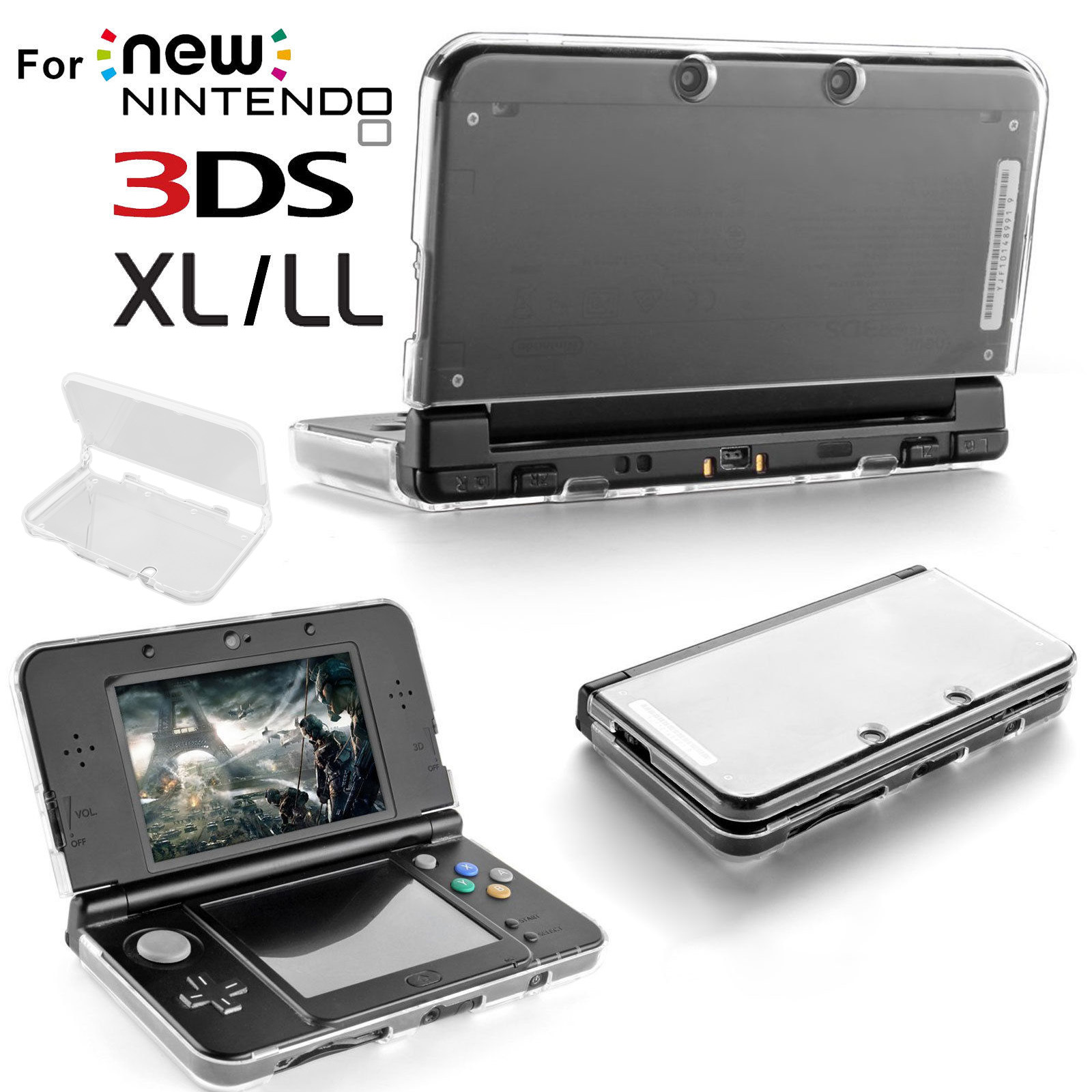 TSV Super Crystal Case for New Nintendo 3DS XL / LL, Clear
