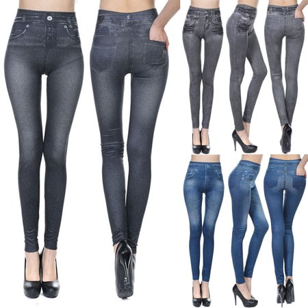 Fashion Women Pencil Jeans Stretch Denim Skinny Pant Jegging High Waist