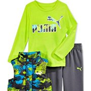 bff149863915 Puma - Puma Kids Baby Toddler Boy s Three Piece Set Hoodie or Vest ...