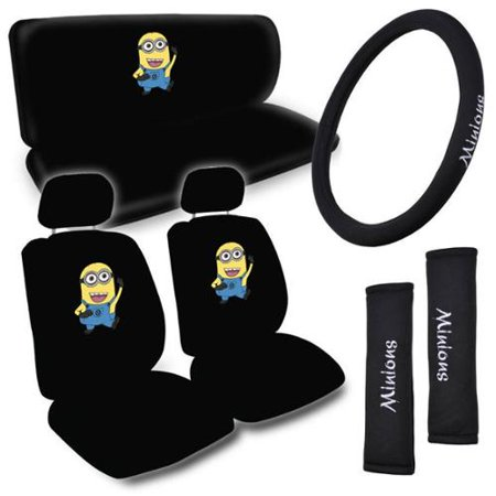 BDK Despicable Me Minions Car Seat Covers Set Of 8