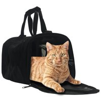 WorldPet, Small, Cat Carrier, Black, 15-in