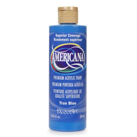 DecoArt Americana Acrylic Paint. True Blue. 8 oz Decoart Americana Acrylic Paints