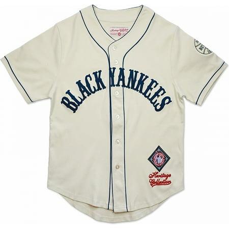 online store b180e 0b783 Big Boy New York Black Yankees NLBM Heritage Mens Baseball Jersey [Ivory  White - M]