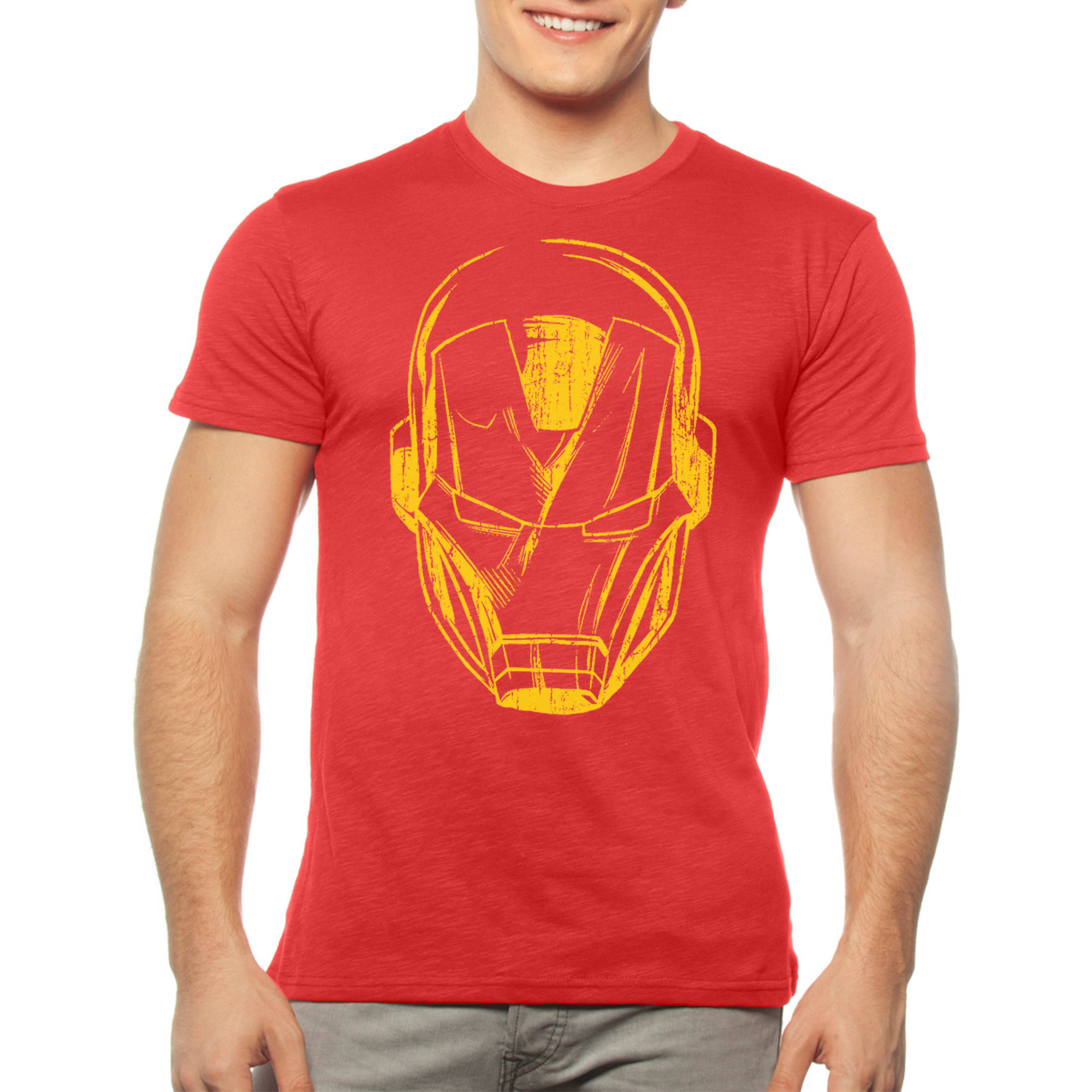 Ironman Mens Graphic Tee Red Tees