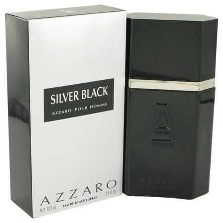 Azzaro Silver Black Eau De Toilette Spray for Men 3.4 oz