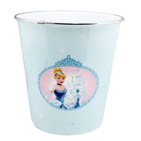 Disney Princess Cinderella Portrait Light Blue Trash Can (10in) Disney Princess Trash Can