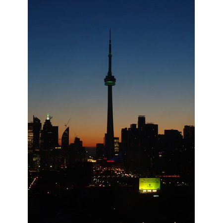 Laminated Poster Skyline Canada Downtown Night Toronto Cn Tower Poster Print 11 x 17](Halloween Downtown Toronto)