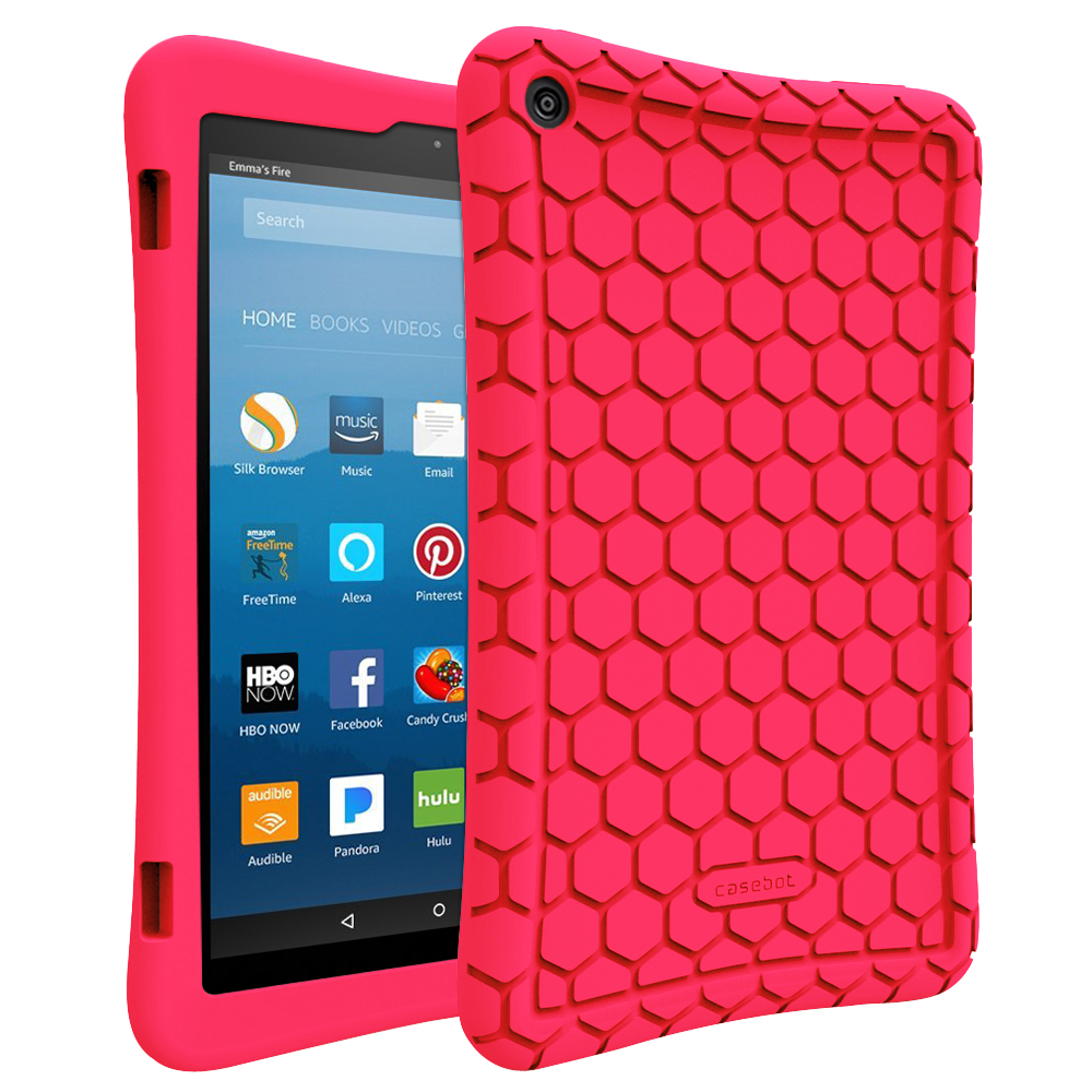 Fintie Silicone Case for All-New Fire HD 8 7th and 8th Gen, 2017 & 2018 Release - Anti Slip Shock Proof Protective Cover