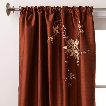 Alesandra Pole-Top Embroidered Curtain Panel