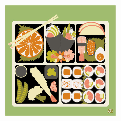 emma at home by Emma Gardner Pop Japan Bento Graphic Art