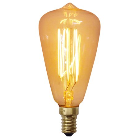 Urbanest Squirrel Cage Teardrop 40 Watt Edison Bulb, E12 Base