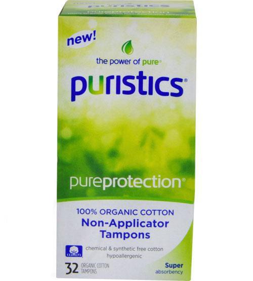 Puristics Super Tampons - Non-Applicator - 100% Organic Cotton