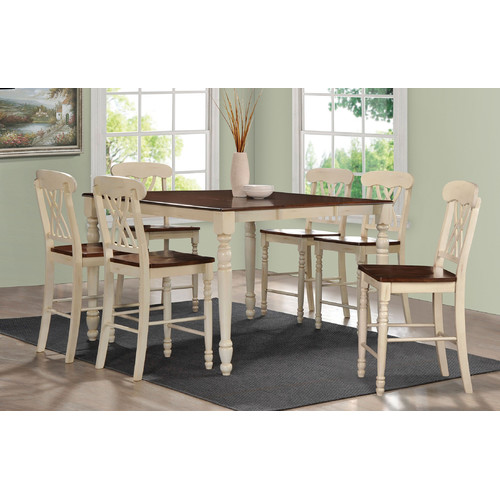 7 piece counter height dining set white infini furnishings piece counter height dining set walmartcom