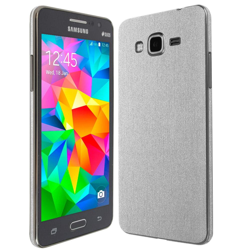 Skinomi Brushed Aluminum Skin & Screen Protector for Samsung Galaxy Grand Prime