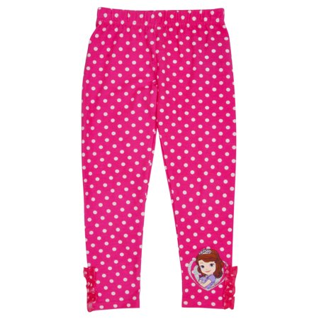 Girls Disney Princess Sofia Dotted Leggings - Princess Jasmine Leggings