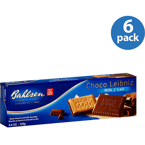 Bahlsen Choco Leibniz Milk Chocolate Covered Biscuits, 4.4 oz (Pack of 12)