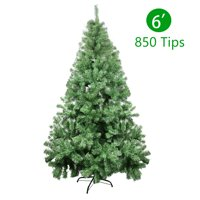 6ft Christmas Tree Xmas Tree 3 Separable Sections Artificial Christmas Pine Trees with Tree Stand 850 Branch Tips For Lush Looking Holiday Decorations