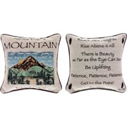 Manual Woodworkers & Weavers Advice from a Mountain Throw Pillow