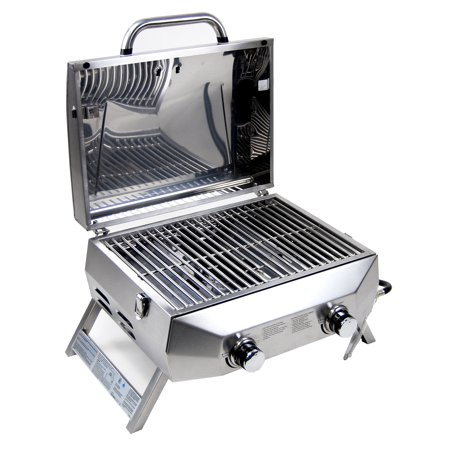 Supere 20 000 Btu 2 Burner Stainless Steel Bbq Tabletop Propane Gas Grills