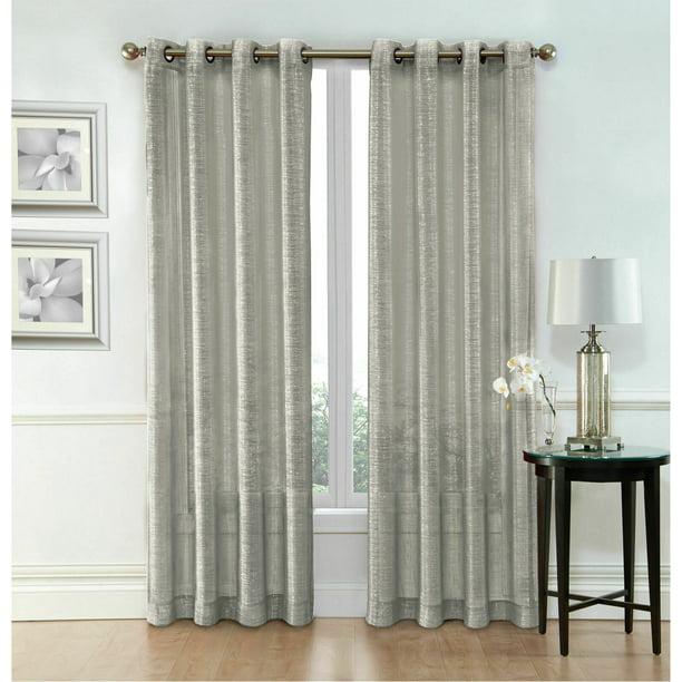 Kate Aurora Metalico Sparkle Sheer, Sparkle Curtain Panels