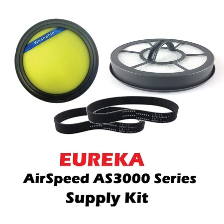 AirSpeed Exact / Direct Rewind Bagless Upright Supply Kit, Includes; (1) Eureka Washable DCF25 Motor Filter to fit 82982-5, (1) Eureka EF7 Exhaust Filter Part.., By (Rewind Motor)
