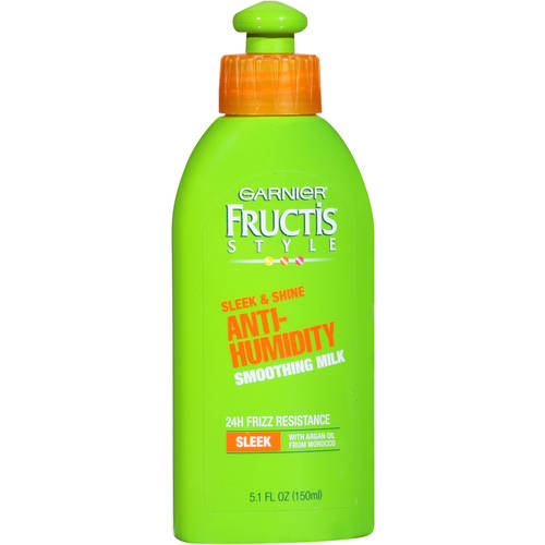 Garnier Fructis Style Anti-Humidity Smoothing Milk, All Hair Types, 5.1 oz.