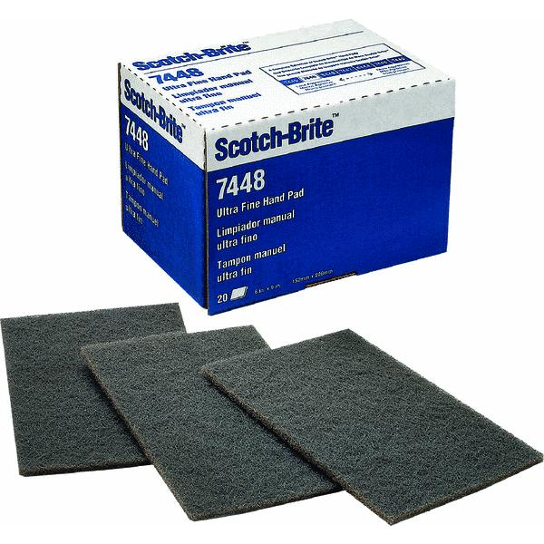 3M  MMM04801104028  Cleaning Supplies  Janitorial Supplies  Scouring Pads  ;Light Gray