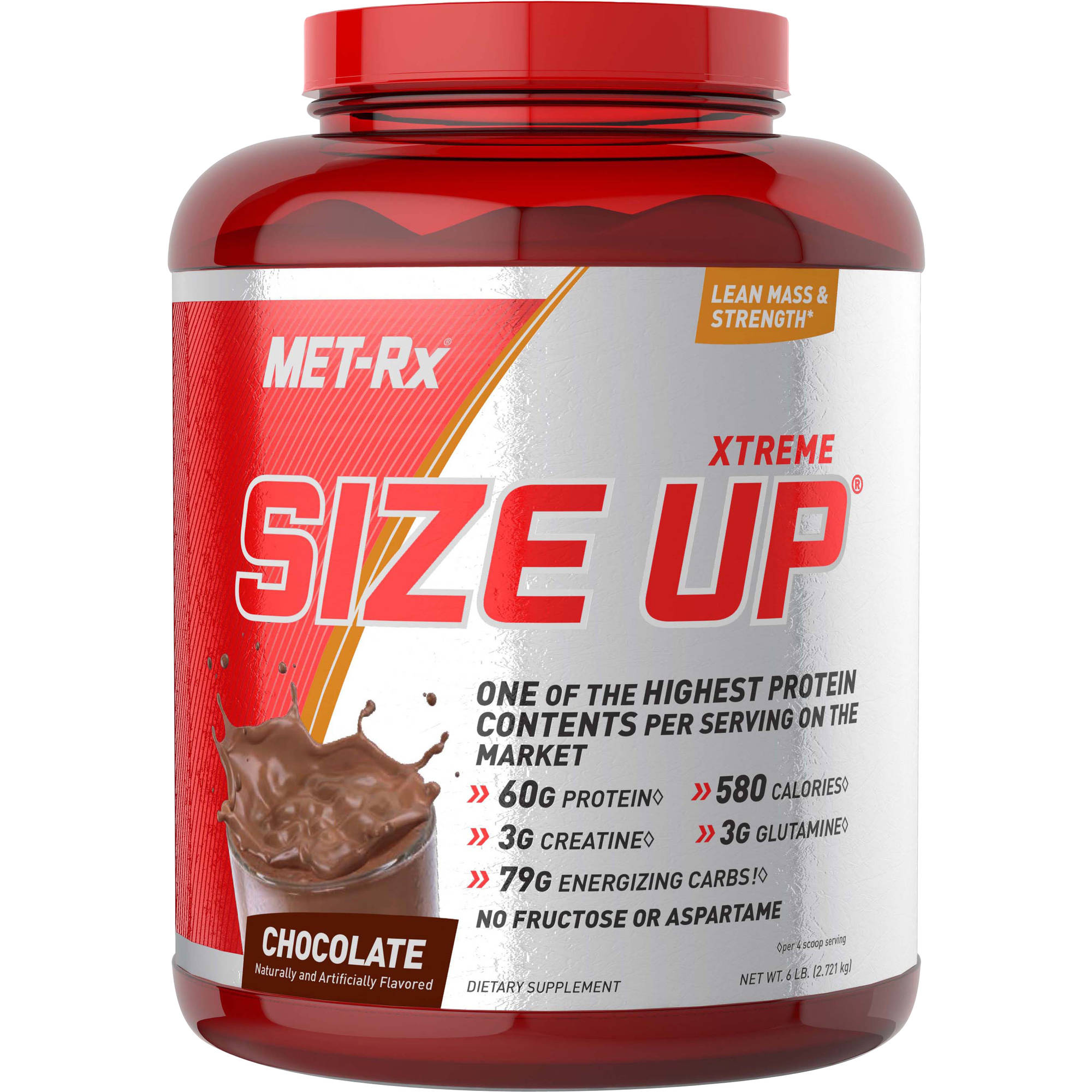 MET-Rx Xtreme Size Up Chocolate Protein Powder Dietary Supplement, 6 lbs