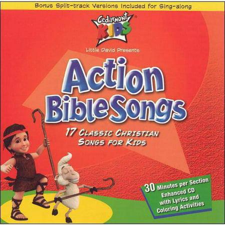 Cedarmont Kids   Action Bible Songs  Cd