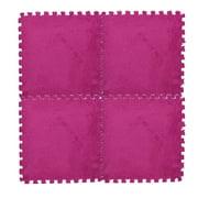 DPTALR 25X25cm Kids Carpet Foam Puzzle Mat EVA Shaggy Velvet Baby Eco Floor 7 colors