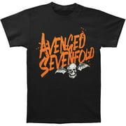 Avenged Sevenfold Men's  Orange Splatter T-shirt Black
